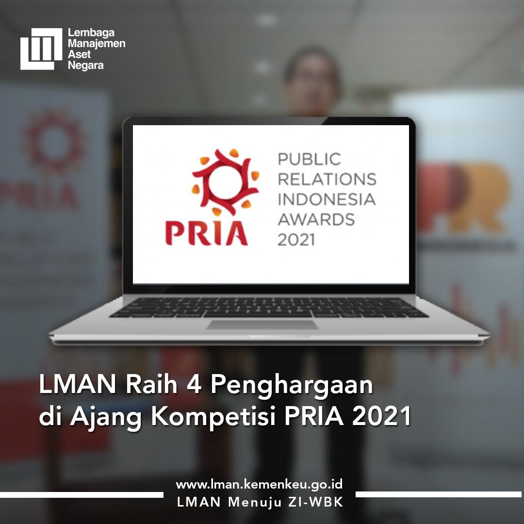 LMAN Berhasil Raih 4 Penghargaan PR Indonesia Award 2021
